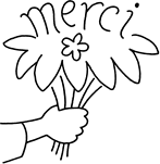 Bouquets de fleurs - Merci