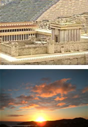 Temple et aurore
