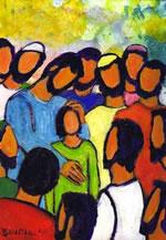 Jésus et foule
