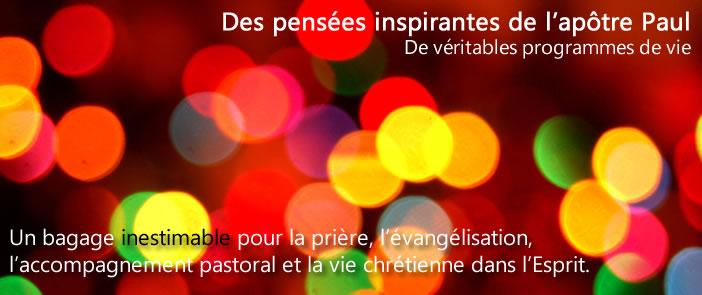 Des pensées inspirantes de l'apôtre Paul