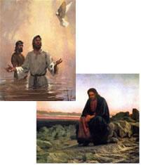 Baptême et tentations de Jésus