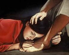 Femme aux pieds de Jésus