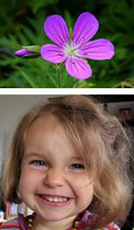 Enfant et fleur