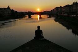 Contemplation - Coucher de soleil