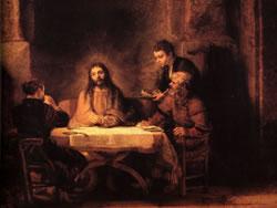 Rembrandt - Le repas d'Emmaüs