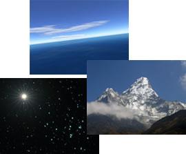 Mer, montagne et espace