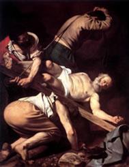 Crucifixion de Saint-Pierre - De Caravaggio