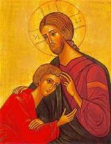 Disciple sur le cœur de Jésus