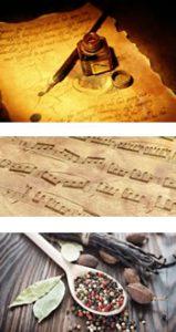 Écriture, musique et alimentation