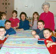 Catéchète et enfants