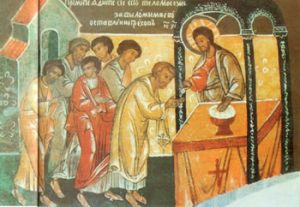 Icône - Le Christ donne la communion dans la main