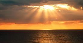 Rayons de soleil et mer