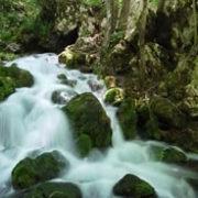Source qui coule au sein de rochers