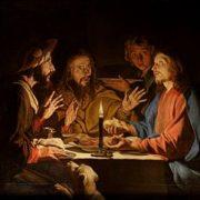 Repas avec les disciples d'Emmaüs