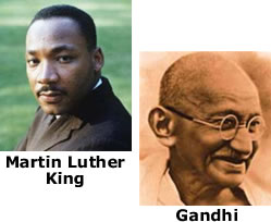 Martin Luther King et Gandhi