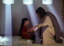 Jésus qui réanime un enfant
