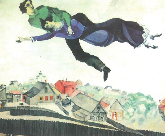 Chagall, Au-dessus de la ville, 1917