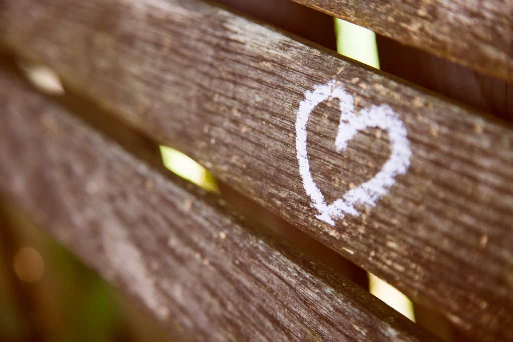 Coeur sur banc